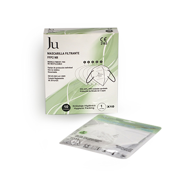 White disposable FFP2 masks