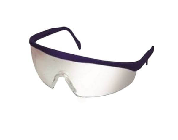 Safety glasses with adjustable temple