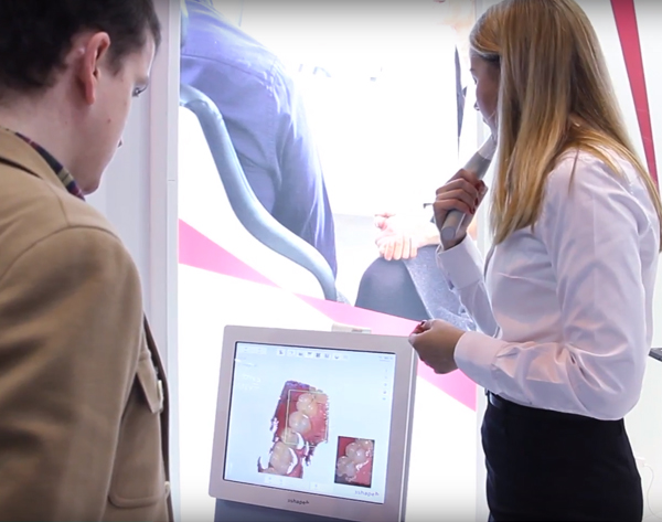 Intraoral scanner test at Expodental 2020