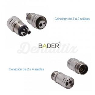 Adapter connection Rotary Midwest / Borden - Midwest to Borden (4 to 2 holes) Img: 201905181