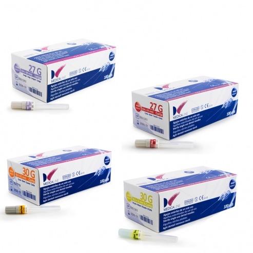 Medicaline Needles 27G Long 0.4x38mm 100 units. Img: 201811101