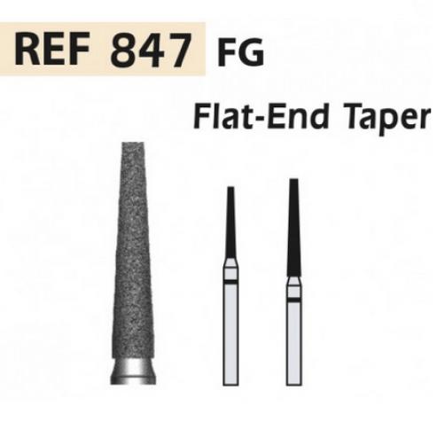 DIAMOND CUTTERS 847-FG Cone tip flat X5UDS. (847-012 M BLUE / TRANSP) Img: 201811031