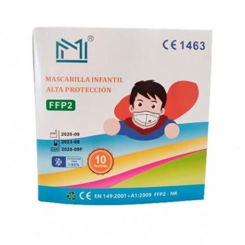 FFP2 mask for children colors (10 pcs)  Img: 202101161