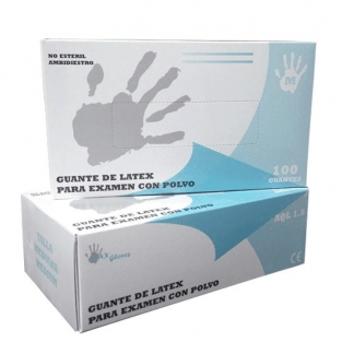 Img1: Latex gloves with powder (100pcs.)