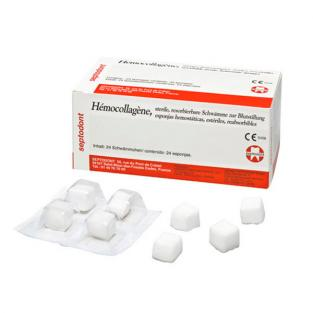 Hemocollagene Hemostatic Sponges 15x15x8mm. 24units Img: 201807031