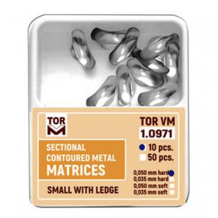 Sectional Contoured Metal Matrix (10 pcs)  - Small with flange Img: 202110021