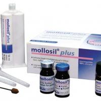 Mollosil® Plus Automix1 - Soft relining material-50 ml Automix, 7 mixing tubes 6mm, 5 ml Mollosil® plus Primer, 2x7 ml mollosil® plus Polish, 2 pipettes Img: 202010171