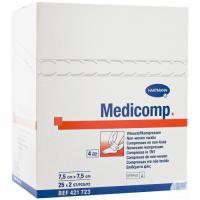 MEDICOMP STERILE GAUZES 30g. 7.5x7.5cm. (40envelopesx5u.) x24u. DISPOSABLE Img: 201807031