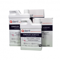QDENT Semi-flexible Acrylic Resin Base Powder (125ml) Img: 201906221
