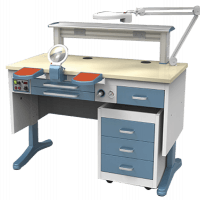 Laboratory bench workstation JT-53 (B) 1.2m. with vacuum system Img: 201807031