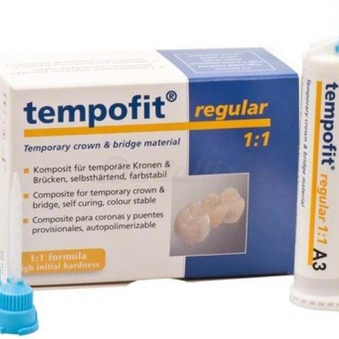 Tempofit® Regular 1:1 - Bis-Acrílico Composite Standard 1:1 (75g A1.)-2 x 75 g A1, 10 puntas de mezcla Img: 202001041