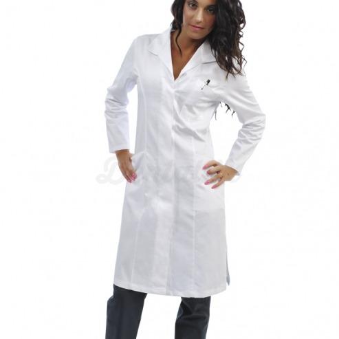 Bata clínica de algodón para mujer CHIARA (1u.) - Color Blanco - talla XS Img: 201807031