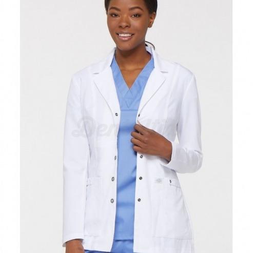 Bata Blanca de Mujer Entallada - Talla 3XL - Blanco Img: 202003071