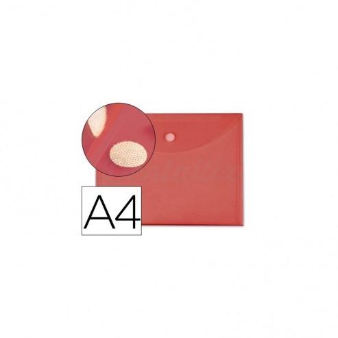 Carpeta sobre con velcro Din A4 Liderpapel rojo Img: 201807281