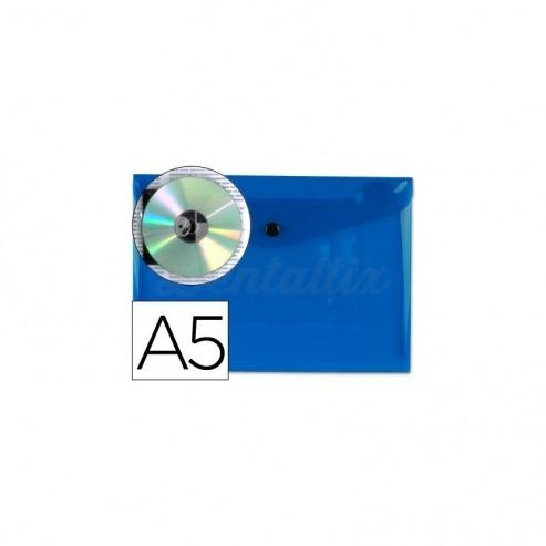 Carpeta sobre Liderpapel broche azul Din A5 Img: 201807281