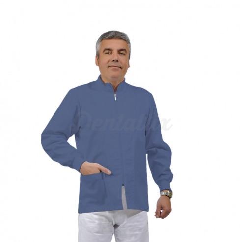 Casaca unisex ERMES de manga corta y algodón (1u.) - Color Azul claro - talla M Img: 201807031