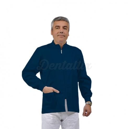 Casaca unisex ERMES de manga larga y algodón (1u.) - Color Azul oscuro - talla XXL Img: 201807031