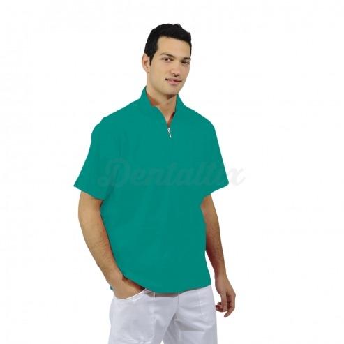 Casaca unisex MERCURIO de manga corta y algodón (1u.) - Color Verde agua - talla XXL Img: 201807031