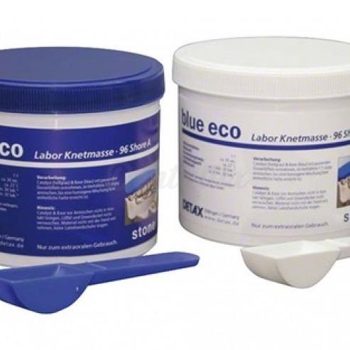 Blue Eco Stone - Eco Pack Material de Mezcla a base de silicona A -1400 g base, 1400 g catalizador, 2 cucharas medidoras Img: 202001041