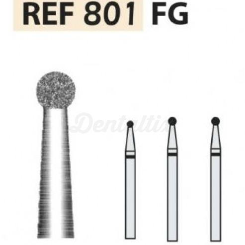 Fresas diamante 801 Bola FG turbina (5u.) (801-009 F ROJO) Img: 201807031