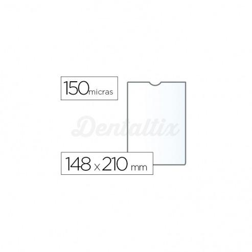 Funda portadocumento Q-connect din A5 150 micras pvc transparente con uñero Img: 201807281