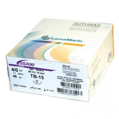 SUTURA SINTETICA ABSORBIBLE SSA90 TB-10 4/0 36u. Img: 201807031