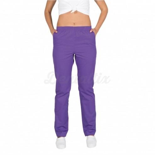 Pantalón Sanitario con Goma Fit (Varios Colores) - Talla Xl - Morado Img: 202005301