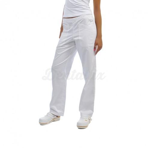 Pantalón clínico unisex PLUTONE de algodón (1u.) - Color Blanco - Talla 42 Img: 201807031