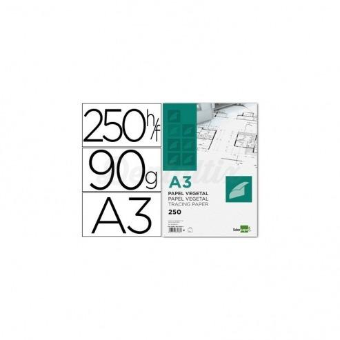 Papel vegetal Liderpapel din a3 gramaje 90g/m2 Img: 201807281