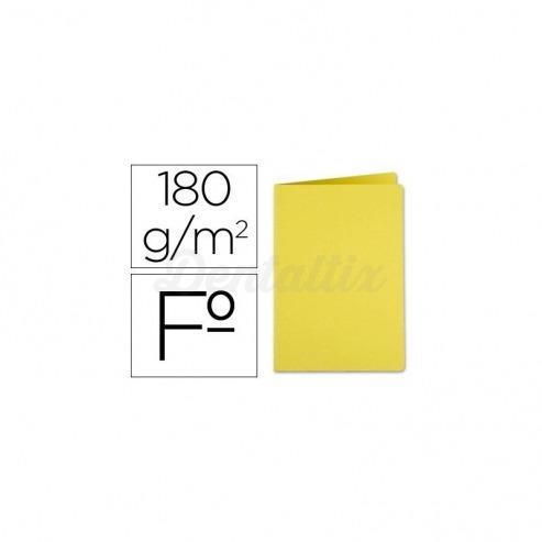 Subcarpeta cartulina folio Liderpapel amarillo Img: 201807281
