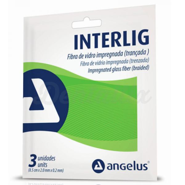 INTERLIG - FIBRA DE VIDRIO TRENZADA (3x8,5cm.) ANGELUS | Dentaltix