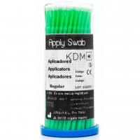 APPLY SWAB KDM bastoncillos largo regular verdes 100 ud