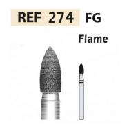 Fresas de diamante 274 Llama F.G. turbina (5u.) Img: 201807031