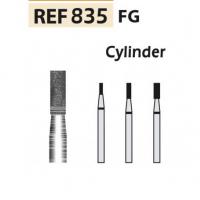 Fresas diamante 835-FG Cilindro punta plana F.G. turbina (5u.) (835-009 M AZUL/TRANSP) Img: 201807031