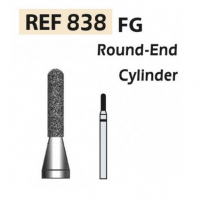 Fresas de diamante 838 Cilindro punta redondeada F.G. turbina (5u.) (838-012 SC NEGRO) Img: 201807031
