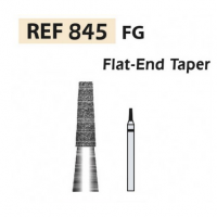 Fresas diamante 845  punta plana F.G. turbina (5u.) (845-009 F ROJO) Img: 201807031