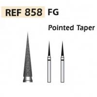 Fresas diamante 858 Cono en punta F.G. turbina (5u.) (858-012 XF AMARILLO) Img: 201807031