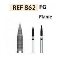 Fresas diamante 862-FG Llama F.G. turbina (5u.) (862-014 C VERDE) Img: 201807031