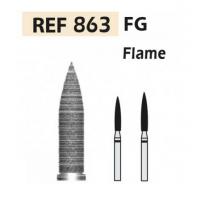 Fresas de diamante 863 Llama F.G. turbina (5u.) (863-016 XF AMARILLO) Img: 201807031