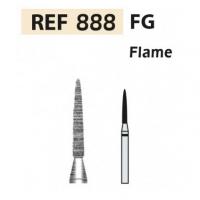 Fresas de diamante 888 Aguja F.G. turbina (5u.) (888-012 XF AMARILLO) Img: 201807031