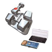 "Bionic™ Bracket  Metálico Roth .018""  5x5 Sup/Inf Ganchos 3-4-5 Img: 201807031"