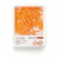 CUÑAS KDM madera cortas x-delgada naranja 100ud