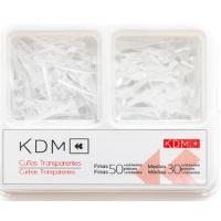 CUÑAS KDM transparente 50 delgadas + 30 medianas