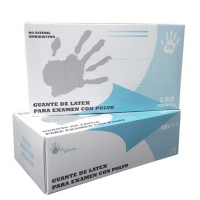 Guantes latex c/polvo extra pequeños 100 ud Img: 202002081