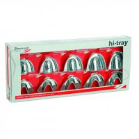 HI-TRAY ACERO INOXIDABLE SOLIDA SUPERIOR Y INFERIOR CUBETAS Cx10u. IMPRESION