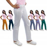 Pantalón clínico mujer ROMINA de algodón (1u.) - Color Blanco - Talla 40 Img: 201807031