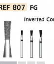 Fresas diamante  807 Cono invertido largo F.G. turbina (5u.) (807-012 C VERDE) Img: 201807031