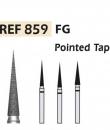 Fresas diamante 859 Cono en punta F.G. turbina (5u.) (859-016 SC NEGRO) Img: 201807031