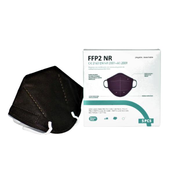 Masque FFP2 jetable couleur noir