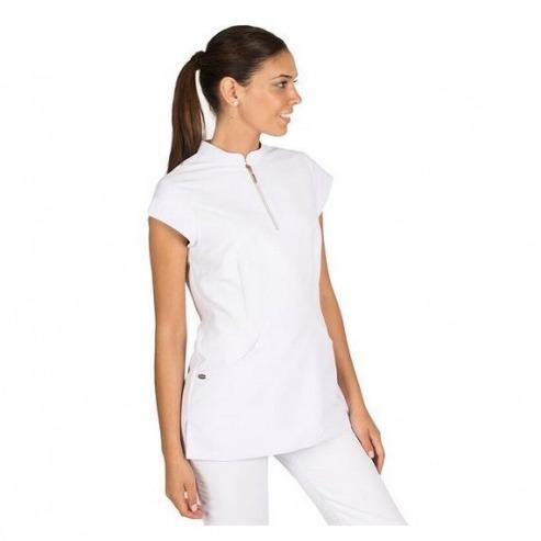 Blouse femme avec fermeture éclair - Taille XS - Blanc Img: 202005231